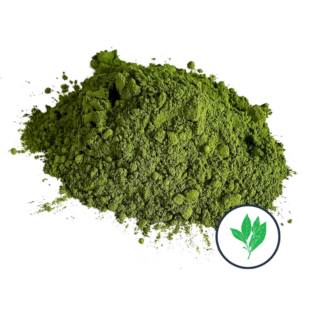 pile of matcha powder with