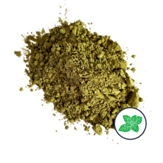 Matcha powder with peppermint icon