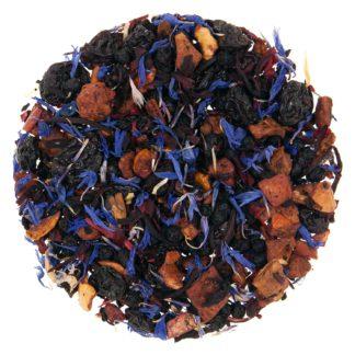 loose leaf herbal tea with blue petals