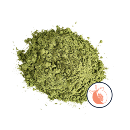 Matcha powder with peach icon